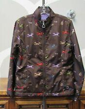 Ariat Brown Laurel Horse Bit Zip Equestrian Print Amazing Riding Jacket Girl 8 S