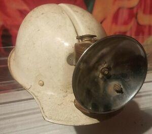 RARE Vintage Msa E.D. BULLARD HARD BOILED COAL MINER HELMET HEAD LAMP JUST RITE