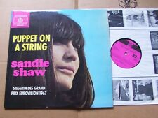 SANDIE SHAW,PUPPET ON A STRING lp vg+/vg+ pye rec HTSLP 340036 Germany 1967