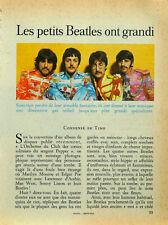 Article papier 6 pages BEATLES février 1968 P1030931