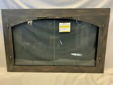 "Stoll Glass Fireplace Bi-Fold Arched Doors Burnished Copper Finish 39"" x 22.5"""