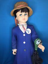 "Vintage 36"" Playpal Size Mary Poppins Horsman Dolls Inc Walt Disney"