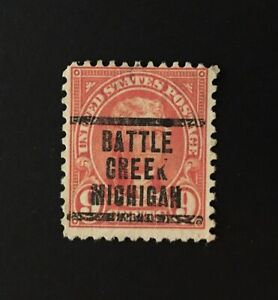 Battle Creek, Michigan Precancel - 9 cents Jefferson (U.S. #641) MI