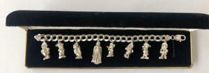Tokyo Disneyland Snow White and the Seven Dwarfs 925 Silver Bracelet