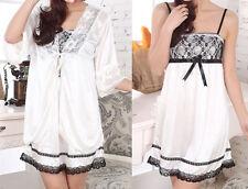 Sexy Women Lace Pajama Strap Sleep Night Dress Sleepwear Twinset Nightwear