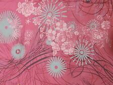 Moda asian bird theme cotton fabric swirls Coral rose ground BTHY half yard cut