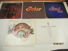 Bundle of 4 Vintage Peter, Paul and Mary Vinyl Albums   LOT # 2 NICE COND.   P31