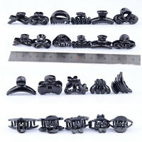 Fashion 10 Mixed Small Plastic Black Hair Clips Hairpin Claws Clamps Hot Sale