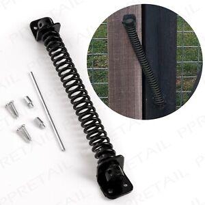 """10"""" GATE SPRING CLOSER Black Weatherproof Hinge Equestrian Stable Door Hinge"""