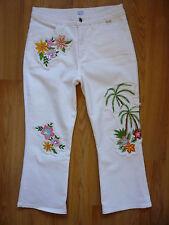 Luxus Escada Sport 7/8 Jeans Modell Marie Blumen Pailetten d gr.34/36