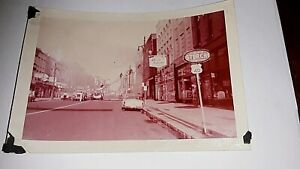 (2) 1950's Amateur Photos Terre Haute, Indiana-Fire on Wabash Avenue