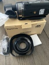 Camcorder Video Camera Ultra HD 4K 48MP Camcorder Camera with Microphone & EXTRA