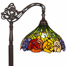 BCP Tiffany Style Rose Reading Floor Lamp Mission Design Table Desk Lighting