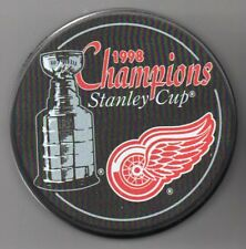 Detroit Red Wings 1998 NHL Stanley Cup Champions Hockey Puck + FREE Cube