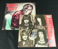 Quiet Riot Full Band Autographs Signed Metal Health Lp Kevin DuBrow, Rudy Sarzo+