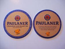 German Beer Pub Coaster <> Paulaner Munchen-Paulaner Brauerei Schorghuber-Munich