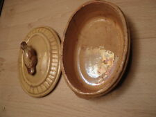 terrine chasse oiseau terre cuite antique mould foie gras Terrine Geese french
