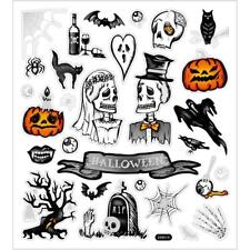 Punched Motifs Glitter Halloween Stickers Sheet For Card Christmas Create Crafts