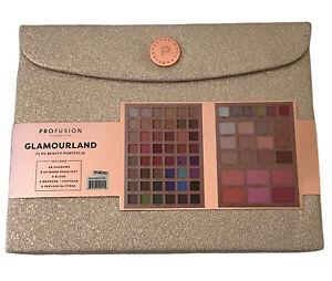 NEW Profusion Cosmetics GLAMOURLAND 72 Pc Portfolio Beauty Set - Perfect Gift !