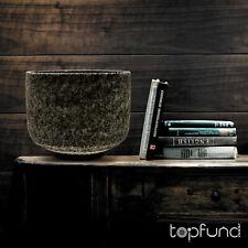TOPFUND Obsidian Fusion E Note Crystal Singing Bowl Solar Plexus Chakra 8 inch