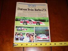 DATSUN 280ZX TWIN TURBO BOB SHARP PAUL NEWMAN  ORIGINAL 1980 ARTICLE