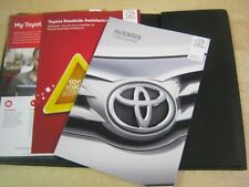 TOYOTA AVENSIS OWNERS MANUAL HANDBOOK PACK 2014-2017 Touch screen nav , W15