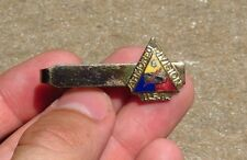 WW2 US ARMY MILITARY 6th Armored Division ID Patch Enamel Tie Bar