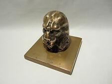 ANCIENNE SCULPTURE EN BRONZE ANIMALIER TETE DE LION PRESSE PAPIER PAPER WEIGHT