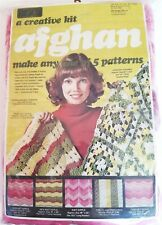 Yarn Kits, Inc. Afghan Kit / Makes 1 of 5 Different Patterns / Knit or Crochet
