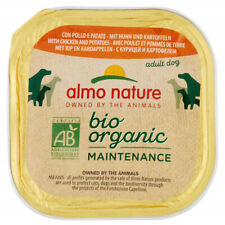 More details for almo nature bio organic wet dog tray - chicken and potatos 300g (pack of 9)