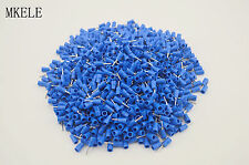 1000PCS Blue Insulated Connector Crimped Pin Terminal PTV2-10 16-14AWG Wire