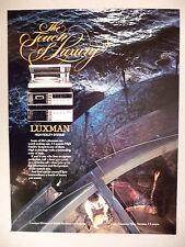 Luxman High-Fidelity Stereo System PRINT AD - 1983 ~~ Alpine Electronics