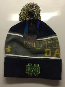 Notre Dame Winter Beanie Hat Shamrock Series 2015 Boston NWT Under Armour