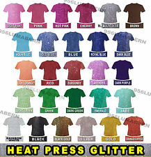 "5 sheet 12""x20"" Super Glitter Heat Press thermal transfer vinyl HTV, roll"