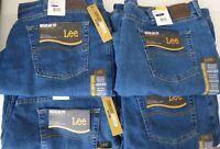 Lee Regular Fit Straight Leg Stretch Jeans Mens - Big & Tall