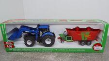 Siku H0 1:50 1988 Traktor New Holland Strautmann Futtermischwagen  Neu OVP