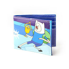 OFFICIAL ADVENTURE TIME - FINN, JAKE AND ICE KING BI-FOLD BLUE WALLET (NEW)
