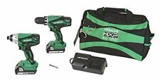 Hitachi KC18DGL 18V Lithium Ion Driver Drill and Impact Driver Combo Kit