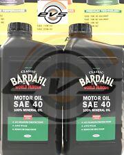 2 Lit Olio Motore Auto Moto Epoca BARDHAL CLASSIC SAE 40 Minerale API SERVICE SB