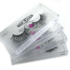 LASGOOS 3D Mink False Eyelashes Hand-made Cross Lashes A11/12/14/19 4Pairs/lot