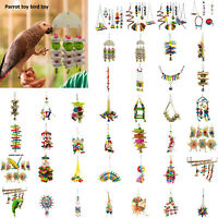 Acrylic Bird Toy Parrot Chew Ball Wood Blocks Cage Ornaments Swing Pet Bird Toys