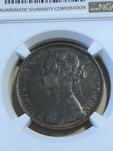 1877 Great Britain 1 Large Penny Graded AU58 by NGC!!