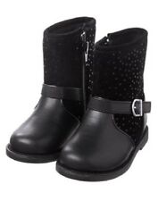 NWT Gymboree Baby Toddler Girl BACK TO BLOOMS Black Dot Moto Boots 9