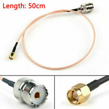 50cm RG316 Cable SMA Male Plug To SO239 UHF Female Jack Straight Pigtail 20in F1