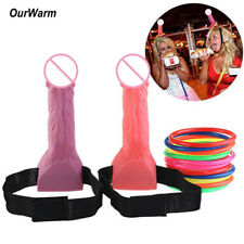 Bachelorette Dick Heads Funny Adult Game Ring Toss Set Hen Night Party Supply