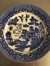 "Blue Willow Plate Vintage Made Japan 9 1/4"" Dinner Plate China Oriental Style"