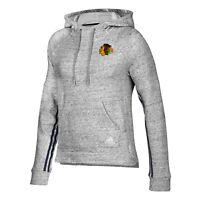 Chicago Blackhawks NHL Adidas Women's Grey Stitched Transitional Hoodie