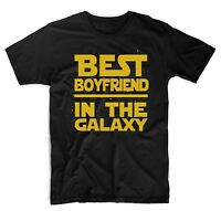 Best Boyfriend in The Galaxy T-Shirt Star Wars Themed Cute T-Shirts Black