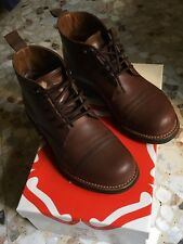 GRENSON RYAN BOOTS COMMANDO SOLE WING RRL GOODYEAR CO. FRYE BOWERY ANFIBI red 40