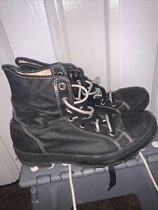 converse all star high tops black mens vintage size Uk 9